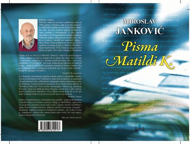 """Promocija  zvučnog i štampanog izdanja knjige """"Pisma Matilde K."""" Miroslava Jankovića u Bijeljini – poziv"""
