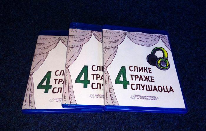 """Poziv na promociju zvučnog izdanja Matične biblioteke Istočno Sarajevo """"Četiri slike traže slušaoca"""""""
