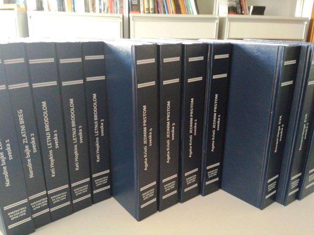 Nove knjige na Brajevom pismu – razmjena sa crnogorskom bibliotekom