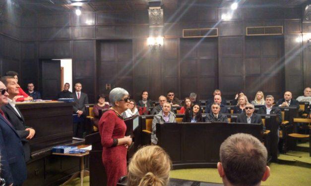 Јубилеј 70 година Градске организације слијепих Бањалука – повеља Специјалној библиотеци