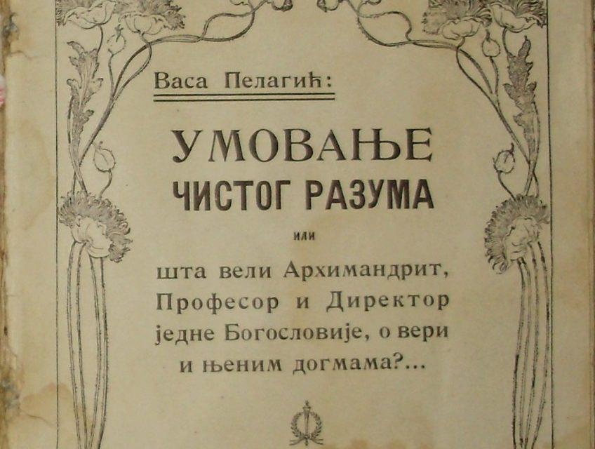 Vasa Pelagić: Umovanje čistog razuma