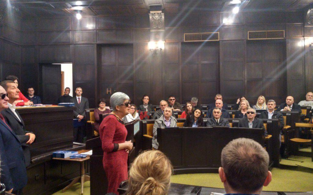 Jubilej 70 godina Gradske organizacije slijepih Banjaluka – povelja Specijalnoj biblioteci